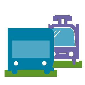 Symbol für Verbindungen in Bus und Bahn